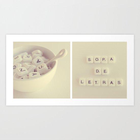 sopa de letras Art Print