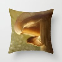 mushroom Throw Pillows featuring Mushroom... by Nature In Art...