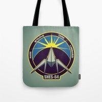starfox Tote Bags featuring The Lylat Space Academy by John Medbury (LAZY J Studios)