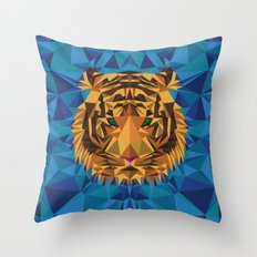 Liger Abstract - Its a Lion Tiger Hybrid Throw Pillow