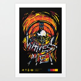 Witness me!! Art Print