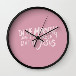 Give me Jesus x Rose Wall Clock