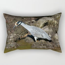 Yellow Crowned Night Heron Rectangular Pillow