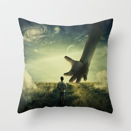 Planet of Giants Throw Pillow