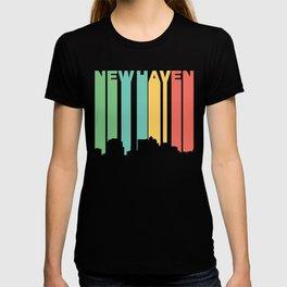 Retro 1970's Style New Haven Connecticut Skyline T-shirt