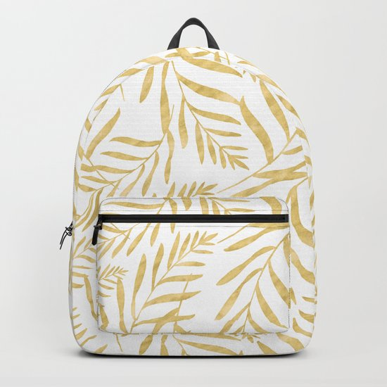 Leaves Golden #society6 #buyart Backpack