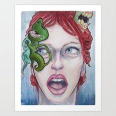 On Her Mind Art Print