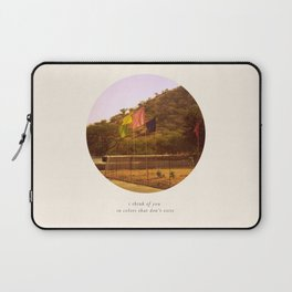 i think of you in colors that don't exist Laptop Sleeve