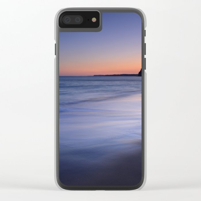 Serenity at the beach Clear iPhone Case