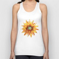 sunflower Tank Tops featuring Sunflower by Klara Acel