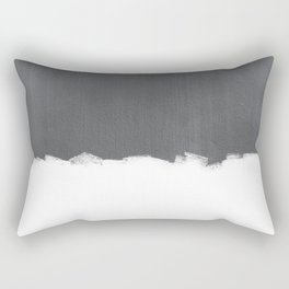 White Paint on Concrete Rectangular Pillow