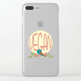 Vegan - Bird Clear iPhone Case