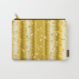 Faux Gold Metallic Treble and Bass Musical Notation Carry-All Pouch