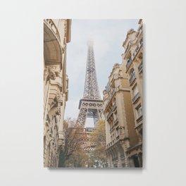 The Eiffel Tower   Paris travel photography   Bright art print Metal Print