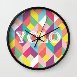 YOLO Geometric Wall Clock