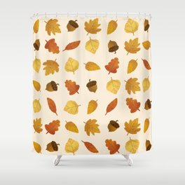 Leaf Lovers in Whipped Cream Shower Curtain