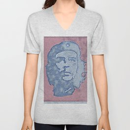 Che Guevara Ideal Artistic Illustration Book Cover Style Unisex V-Neck