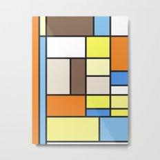 The Colors of / Mondrian Series - To toro - Miyazaki Metal Print