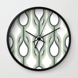 Retro-Delight - Double Drops - Mint Wall Clock
