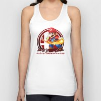 smash bros Tank Tops featuring Mario - Super Smash Bros. by Donkey Inferno