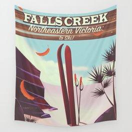 Falls Creek, Northeastern Australia Ski poster, Wall Tapestry