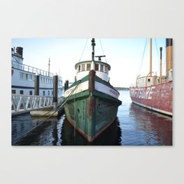 In Harbour  Canvas Print