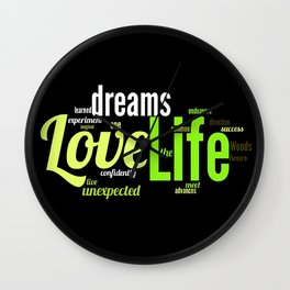LIFE IN THE WOODS Wall Clock
