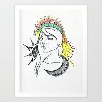 The sun on my shoulders Art Print