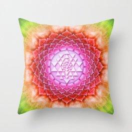 Sri Yantra Lotus II Throw Pillow