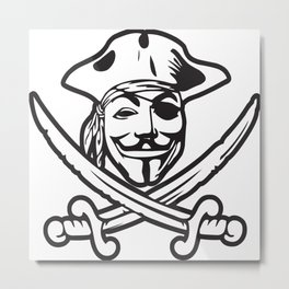Digital Pirates Metal Print