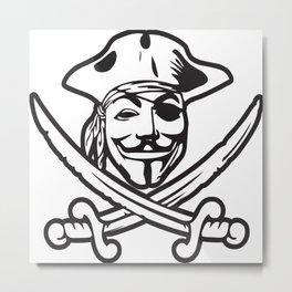 Digital Pirates Metal Print