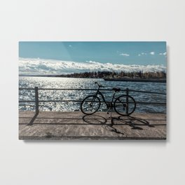 lakefront bike ride Metal Print