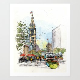 Denver's 16th Street Art Print