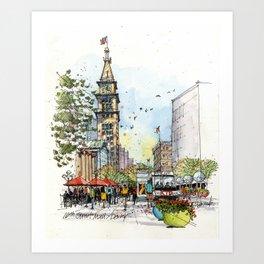 Denver's 16th Street Art Print