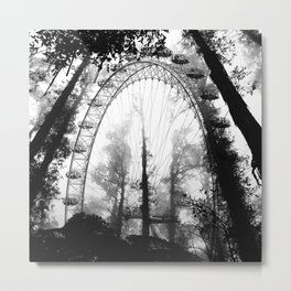 Forest Wheel Metal Print