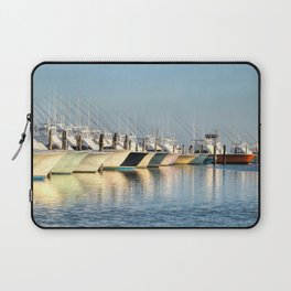 Outer Banks, Oregon Inlet Fishing Center, Fishing Boats Back Home for the Evening, OBX, NC Laptop Sleeve