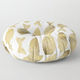 Indonesian Fish Duo – Gold Palette Floor Pillow