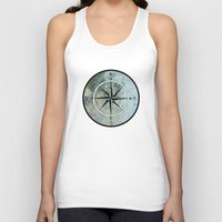 compass Tank Tops featuring Compass by madbiffymorghulis