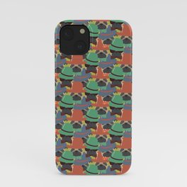 Hipster Pug Pattern iPhone Case