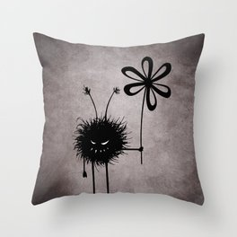 Evil Flower Bug Throw Pillow