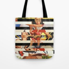 Glitch Pin-Up Redux: Lindsey Tote Bag