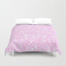 Ab Fan Pink Duvet Cover