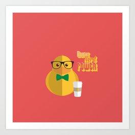 duck nerd power Art Print