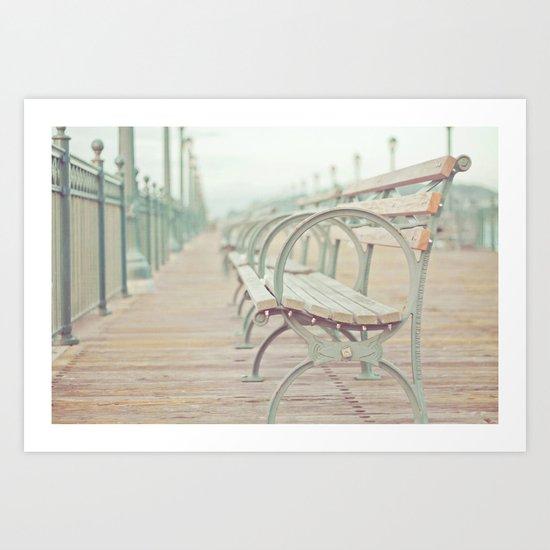 Pastel Pier Art Print