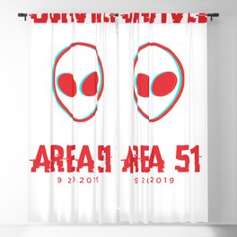 I survived Area 51 Blackout Curtain