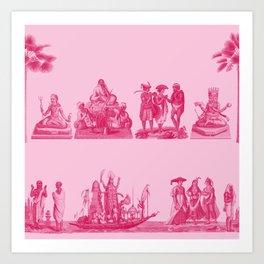 Hindu Fucsia Art Print