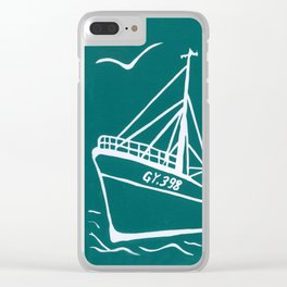 Ross Tiger in Turquoise Clear iPhone Case