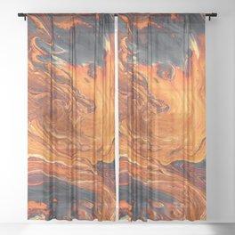 Lava Art Sheer Curtain