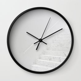 White Staircase  Wall Clock