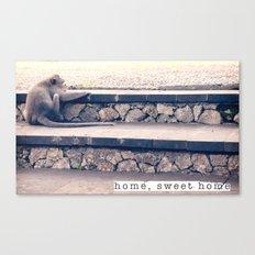 HOME SWEET HOME SERIES - MONKEY Canvas Print